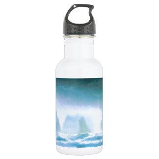 抽象的なファンタジー水神アトランティス ウォーターボトル