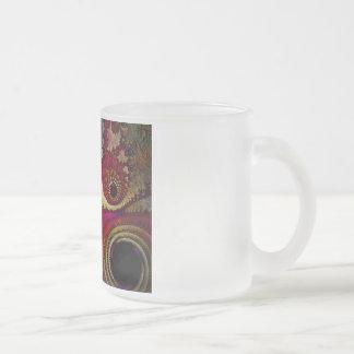 抽象的なフラクタルの曇らされたガラスのマグ フロストグラスマグカップ