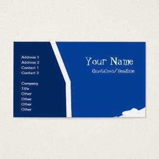 抽象的なブルーライン 名刺