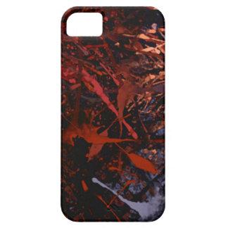 抽象的なペンキの滴り iPhone SE/5/5s ケース