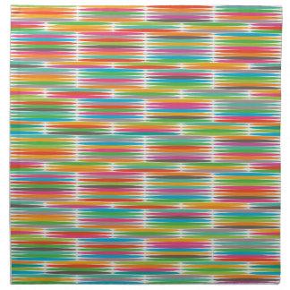 抽象的なポップアートの多彩な虹のモザイク ナプキンクロス