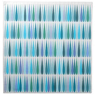 抽象的なポップアートの青の低下 ナプキンクロス