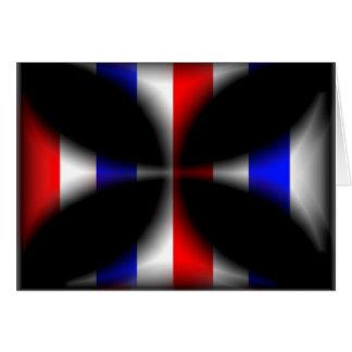 抽象的なマルタ十字 グリーティングカード