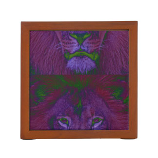 抽象的なライオンの机のオルガナイザー ペンスタンド