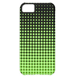 抽象的なレトロの緑および黒いハーフトーンの背景 iPhone5Cケース