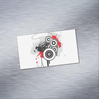 抽象的なワシの磁気名刺 マグネット名刺 (25枚パック)
