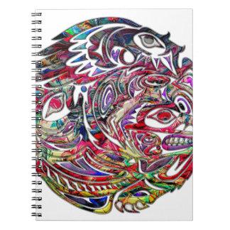 抽象的なワシ低音およびくまの種族の芸術 ノートブック