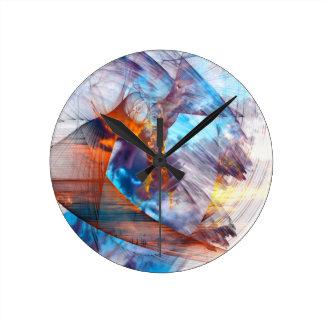 抽象的なワシ ラウンド壁時計