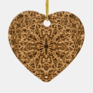 抽象的な万華鏡のように千変万化するパターンの毛皮パターン セラミックオーナメント