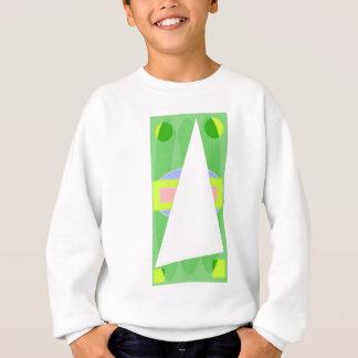 抽象的な三角形 スウェットシャツ