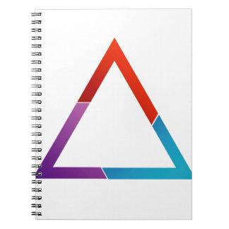 抽象的な三角形 ノートブック