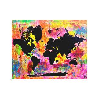 抽象的な世界地図 キャンバスプリント