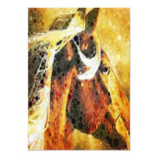 抽象的な乗馬の西欧諸国の馬 カード
