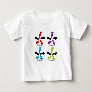 抽象的な人々のカラフルの人々 ベビーTシャツ