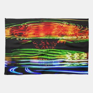 抽象的な会場ライト絵画 キッチンタオル