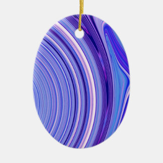 抽象的な作成(電気青) セラミックオーナメント