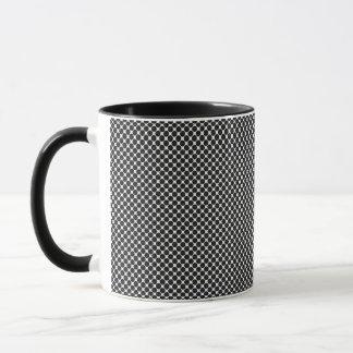 抽象的な光学点の陶磁器のマグ マグカップ