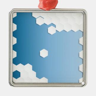 抽象的な六角形の背景 メタルオーナメント