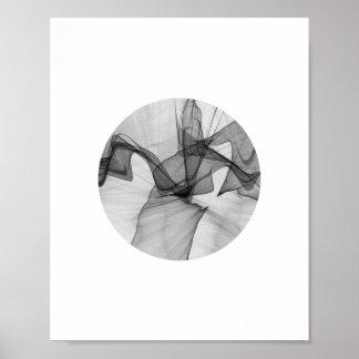 抽象的な円ポスター| 8x10 ポスター