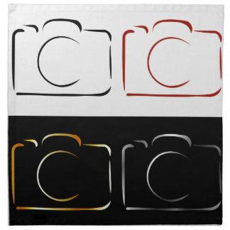 抽象的な写真撮影のカメラ ナプキンクロス