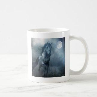 抽象的な動物の月光の馬 コーヒーマグカップ