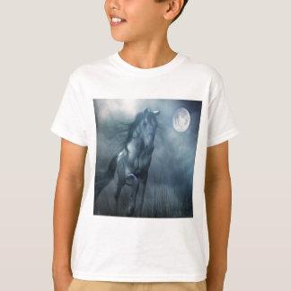 抽象的な動物の月光の馬 Tシャツ