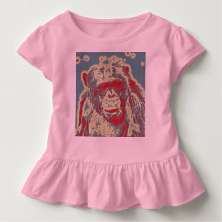 抽象的な動物-チンパンジー トドラーTシャツ