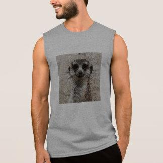 抽象的な動物- Meerkat 袖なしシャツ