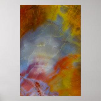 抽象的な化石木のクローズアップ ポスター