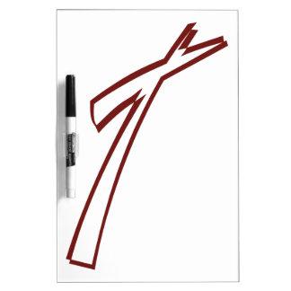 抽象的な十字の輪郭 ホワイトボード