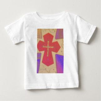 抽象的な十字 ベビーTシャツ