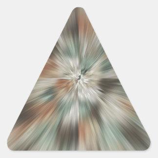 抽象的な地球は絞り染めにある調子を与えます 三角形シール