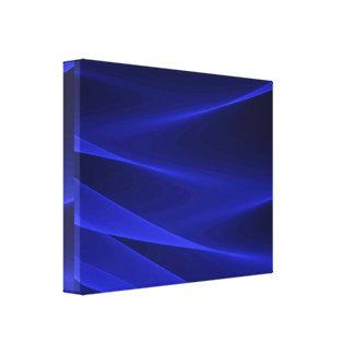 抽象的な変化青い深紅色 キャンバスプリント