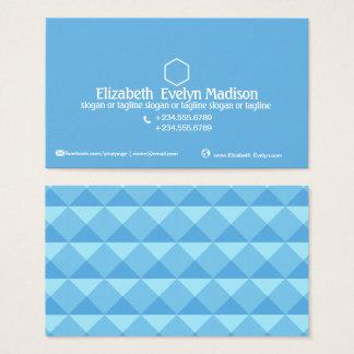 抽象的な多角形のスタイル0001 名刺