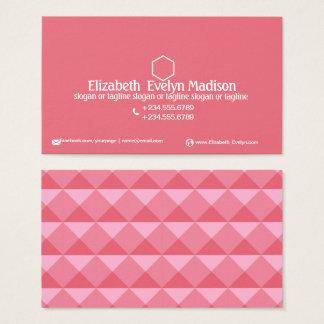 抽象的な多角形のスタイル0002 名刺