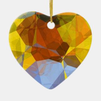 抽象的な多角形180 セラミックオーナメント