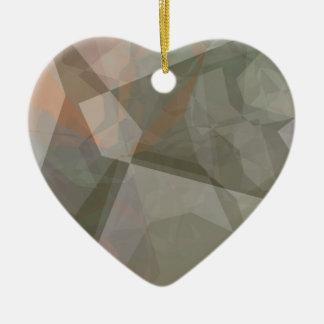 抽象的な多角形70 セラミックオーナメント