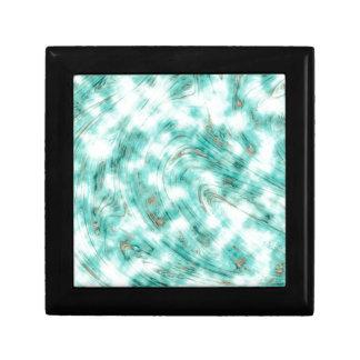 抽象的な大理石の青 ギフトボックス