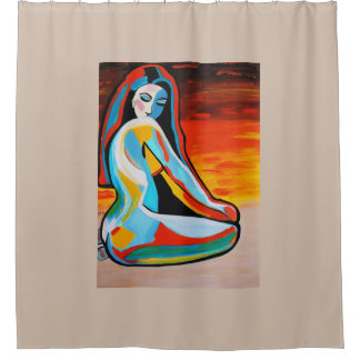 抽象的な女の子2 シャワーカーテン
