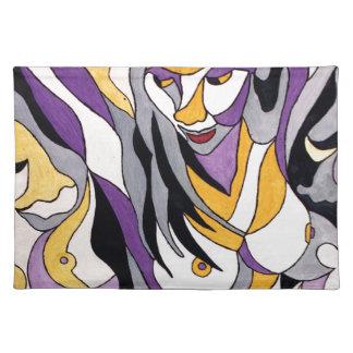 抽象的な女性7 ランチョンマット
