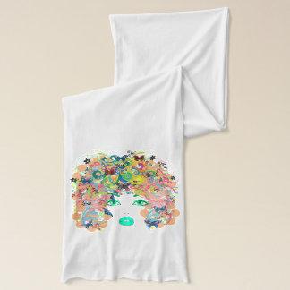 抽象的な女性 スカーフ