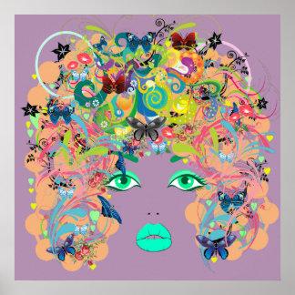 抽象的な女性 ポスター