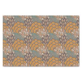 抽象的な孔雀の羽パターン 薄葉紙