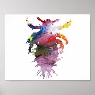 抽象的な寄生虫のシルエット ポスター