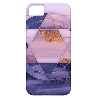 抽象的な山の景色の場合 iPhone SE/5/5s ケース