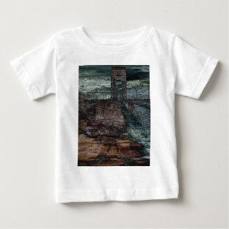 抽象的な幾日の橋によって破壊される終わり ベビーTシャツ