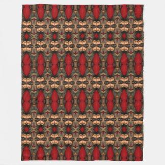 抽象的な建築の芸術のコーヒーウシの血毛布 フリースブランケット