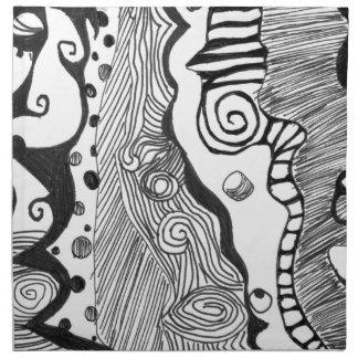 抽象的な心 ナプキンクロス