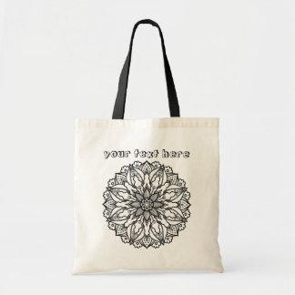 抽象的な情熱の花の曼荼羅は私を戦闘状況表示板着色します トートバッグ