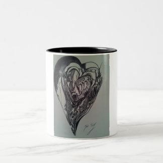 抽象的な愛コーヒー・マグ ツートーンマグカップ
